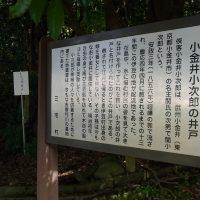 小金井小次郎井戸_看板