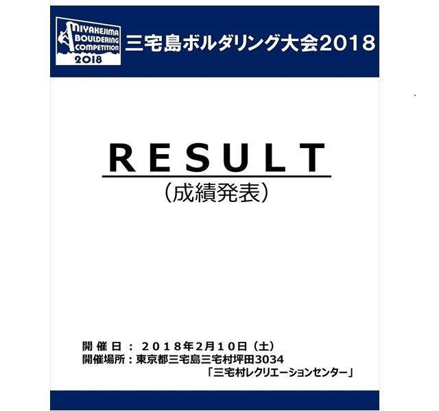 【競技成績発表】三宅島ボルダリング大会2018