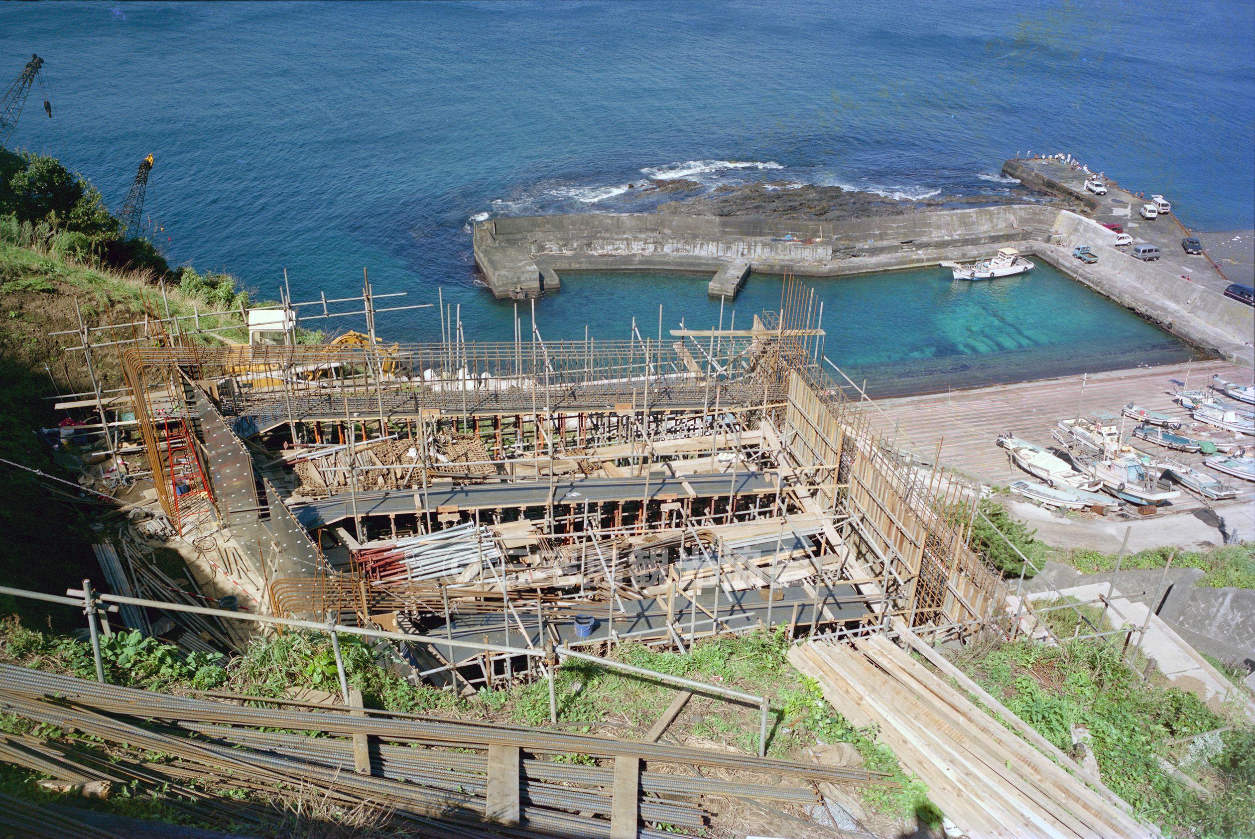 富士見橋の基礎工事