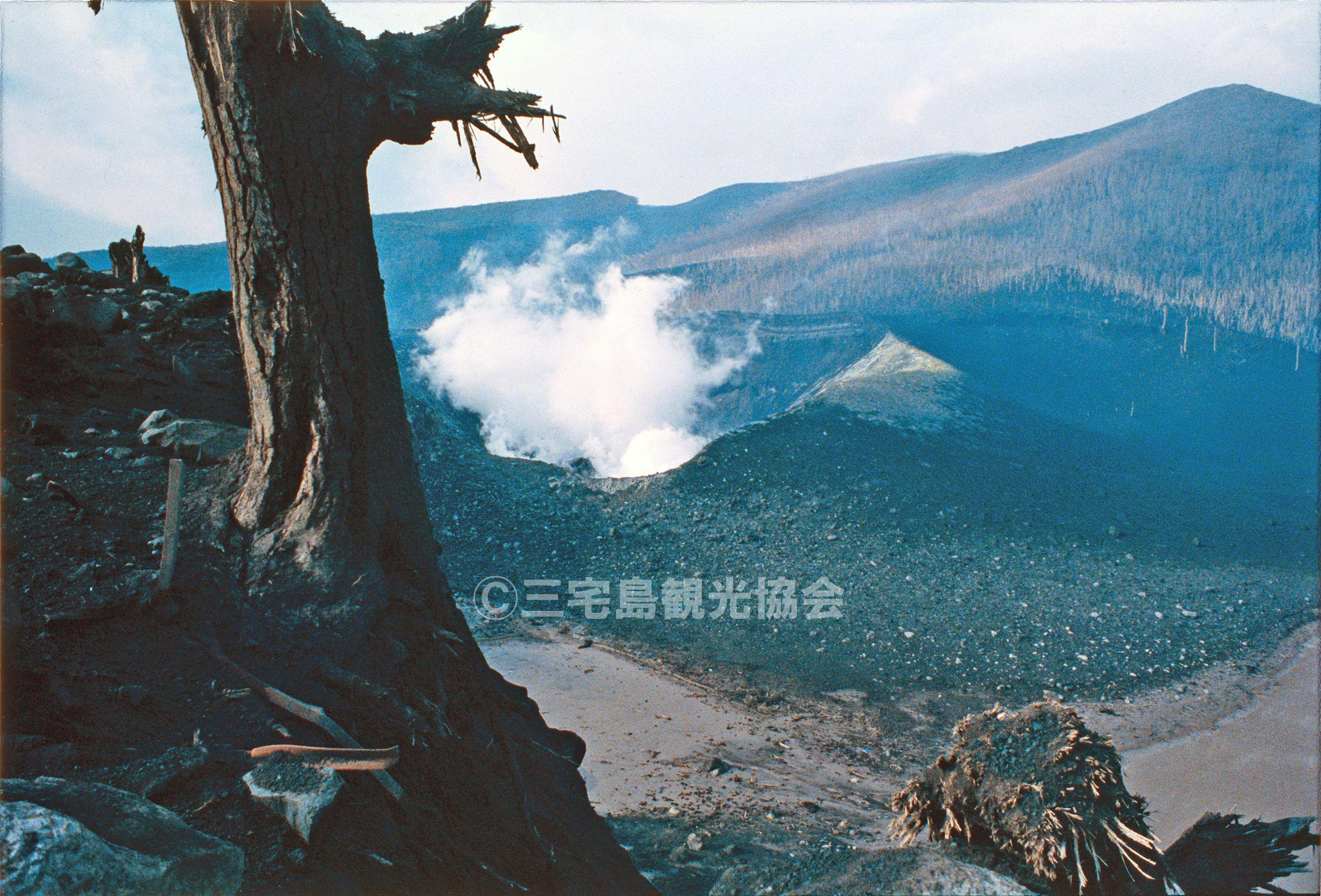 【1983(昭和58)年噴火】 新澪池から見る噴火口