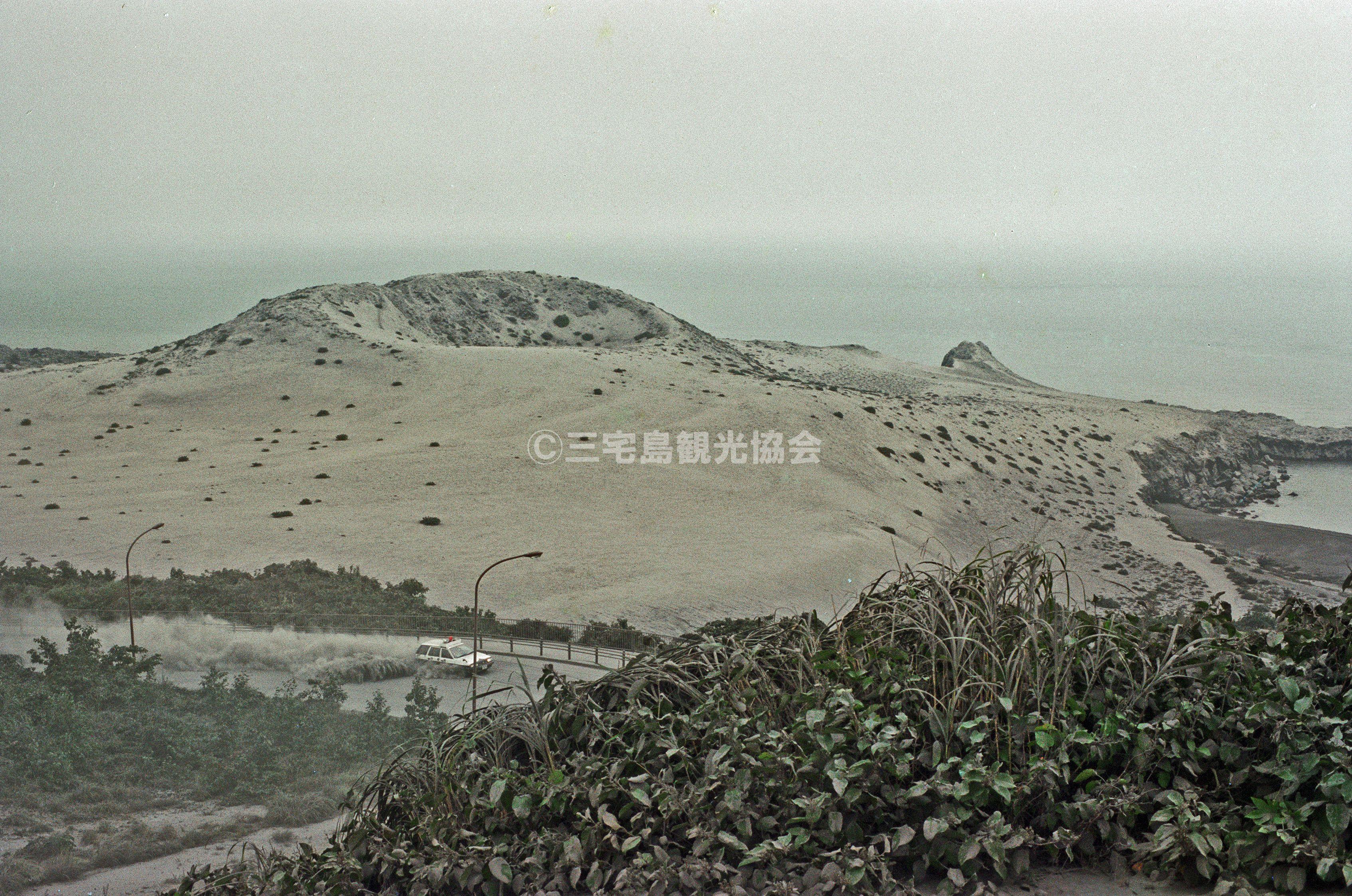 【2000(平成12)年噴火】 降灰したひょうたん山